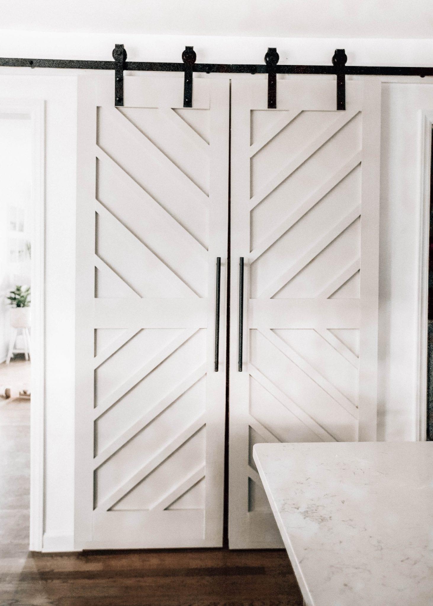 white barn pantry doors