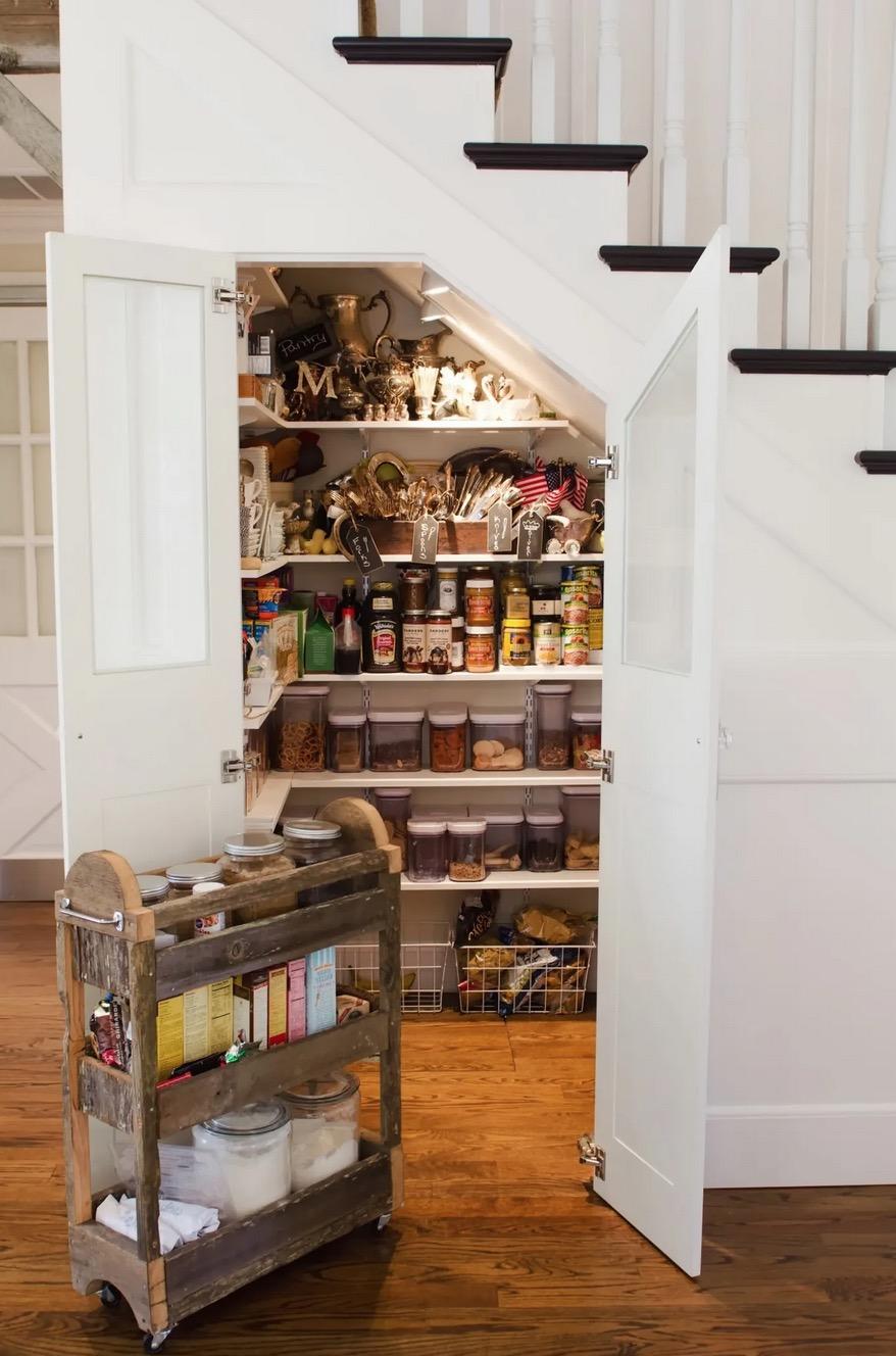 Understairs pantry idea