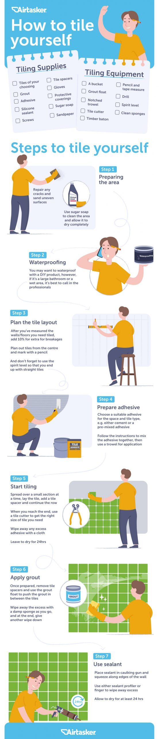 how to tile infographic