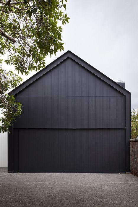 all black garage door ideas