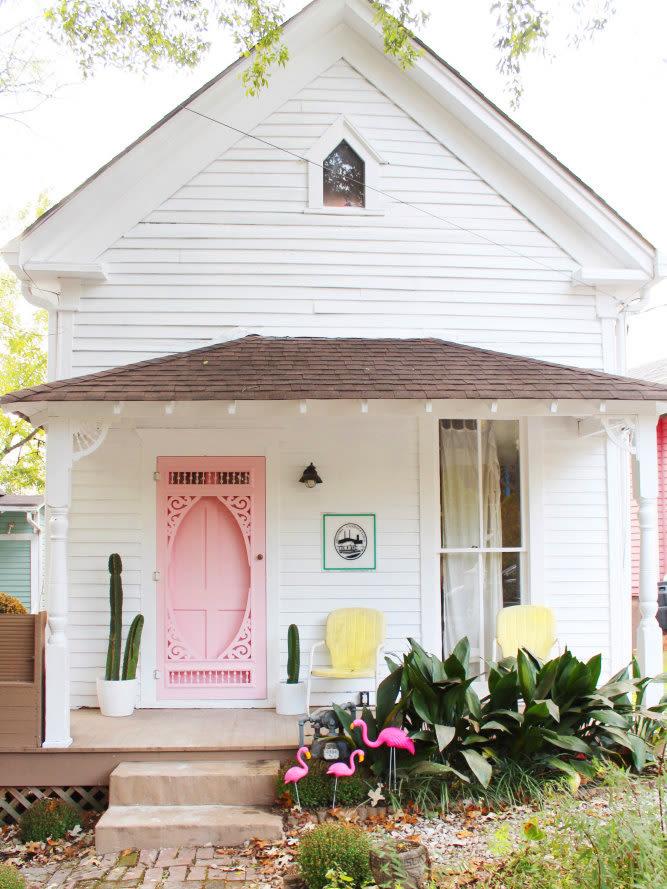decorative-front-door-pink