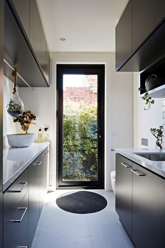 external black frame door