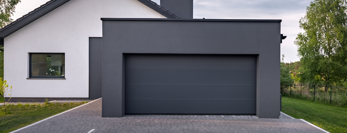 35 Modern garage door ideas – black, white, natural timber and the colourful!