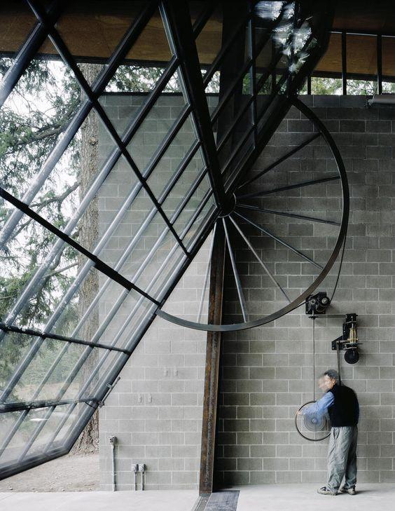 glass and steel garage door ideas
