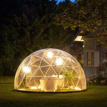 glass igloo conservatory