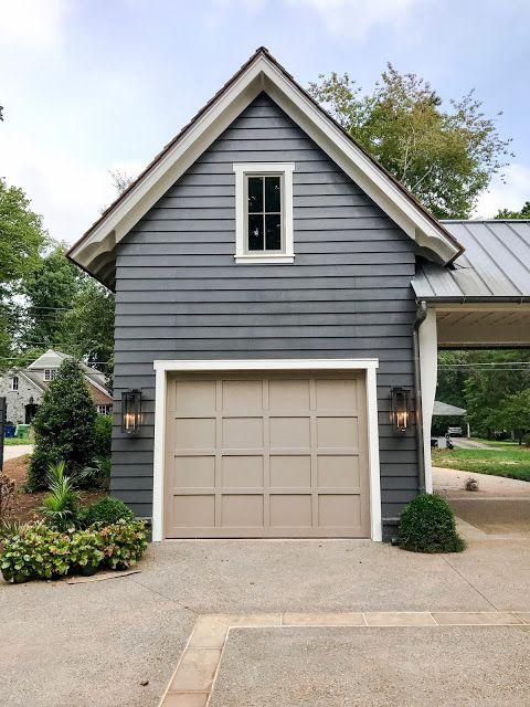 grey and taupe garage door ideas