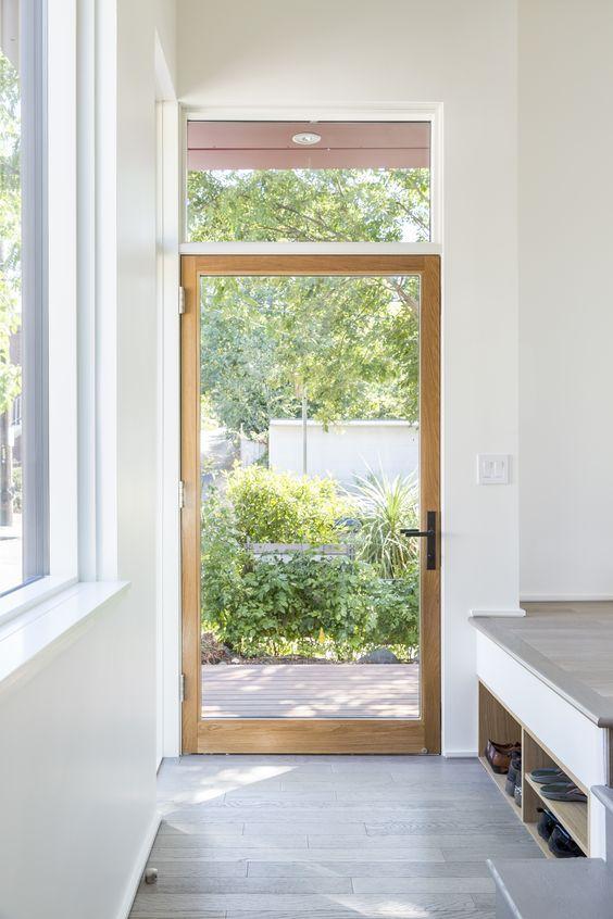 simple glass and wood door