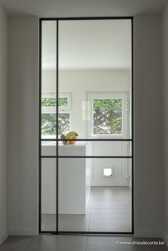 simple steel door