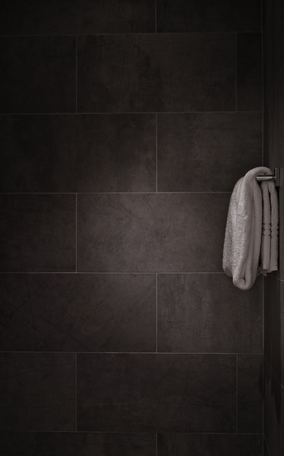 Tiled shower wall