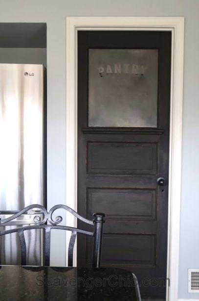 vintage pantry door