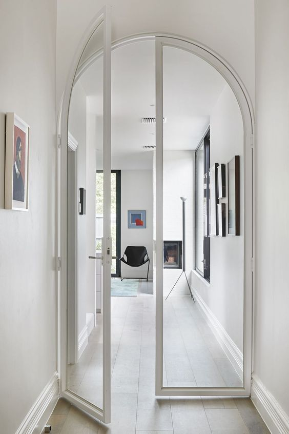 white arched internal doors