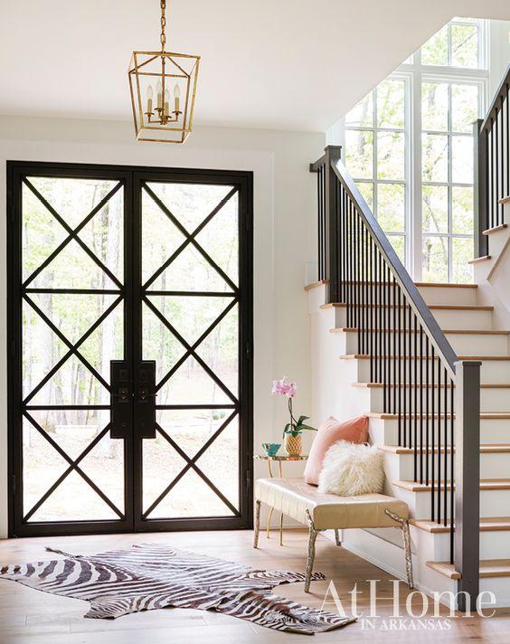 x pattern steel door