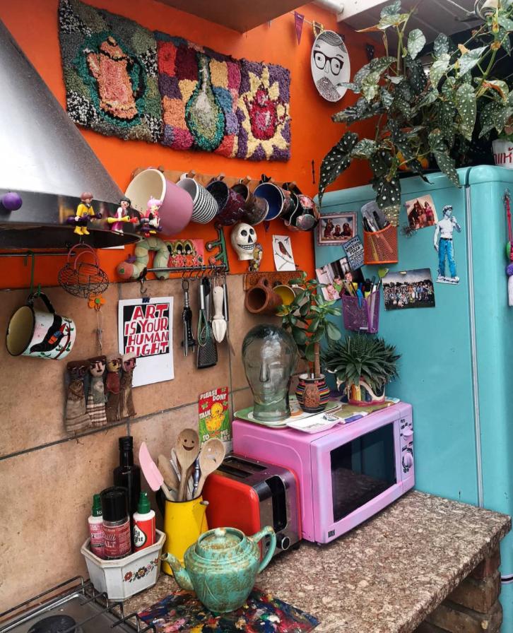 bright colourful kitchen