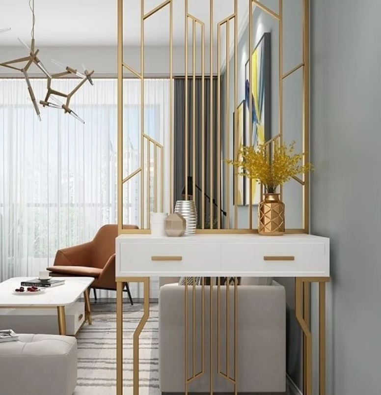 contemporary gold Room divider