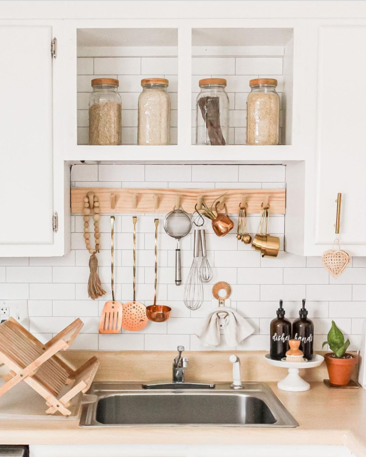 a well organised kitchen