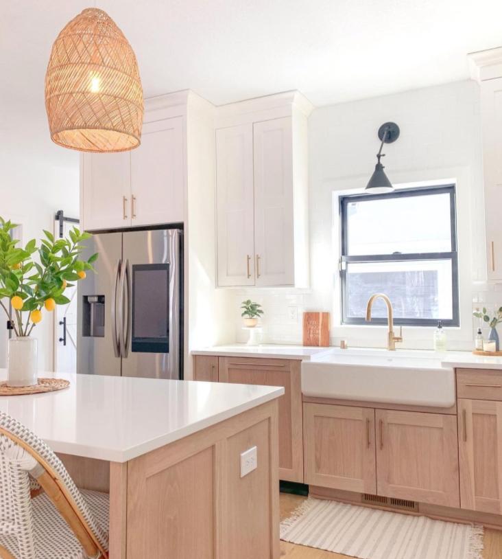 modern boho kitchen