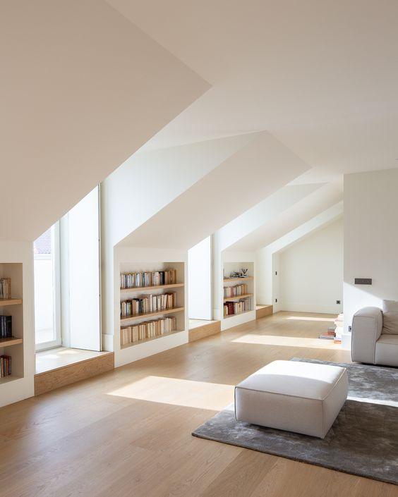 loft storage ideas between velux windows