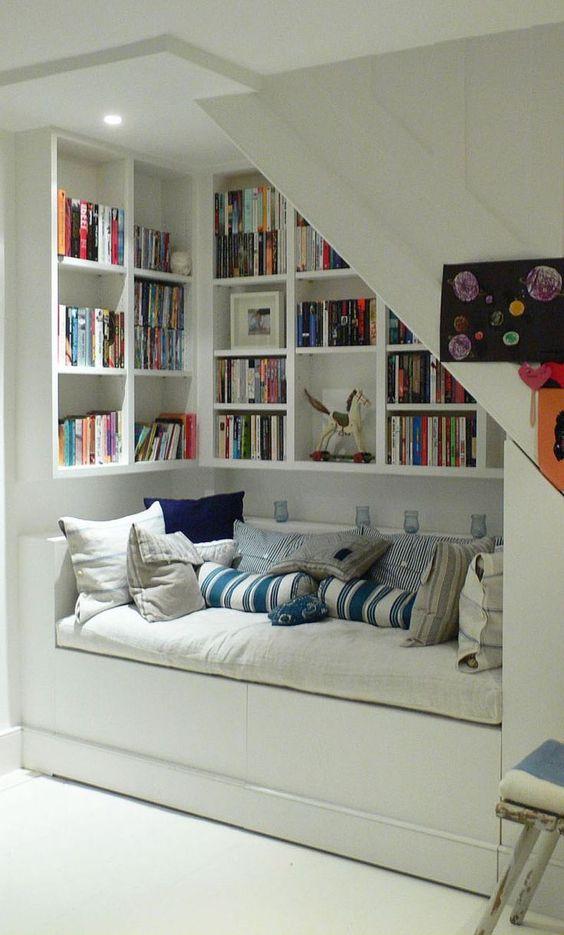 loft book nook shelving