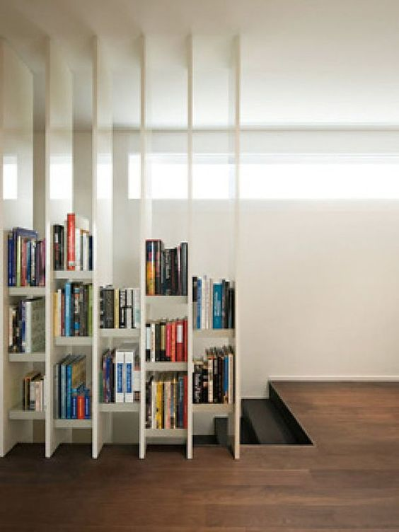bookcase loft room divider