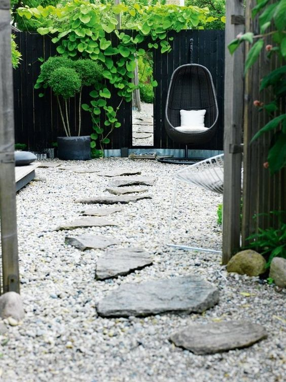 crazy paver stepping stones and gravel