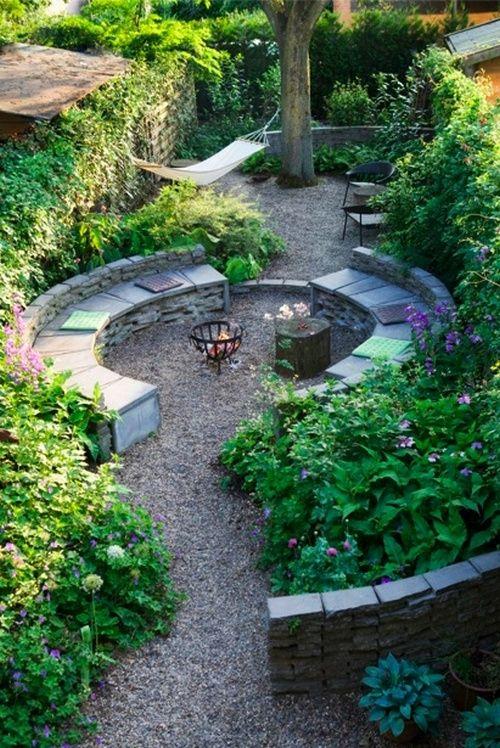 gravel garden amphitheatre