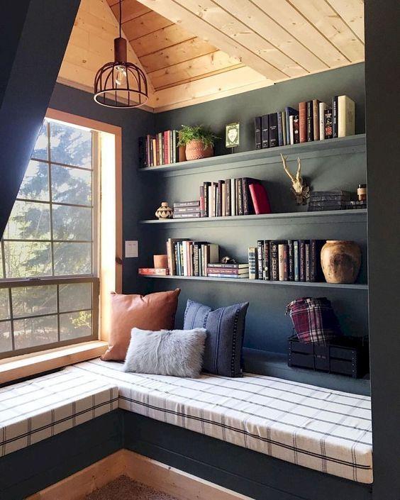 grey loft shelving