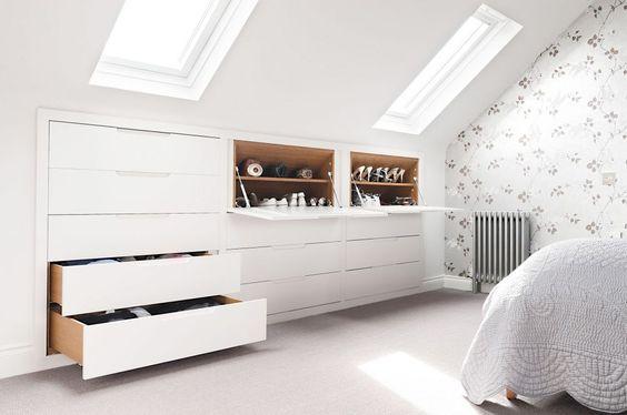loft storage ideas - hinged drawers