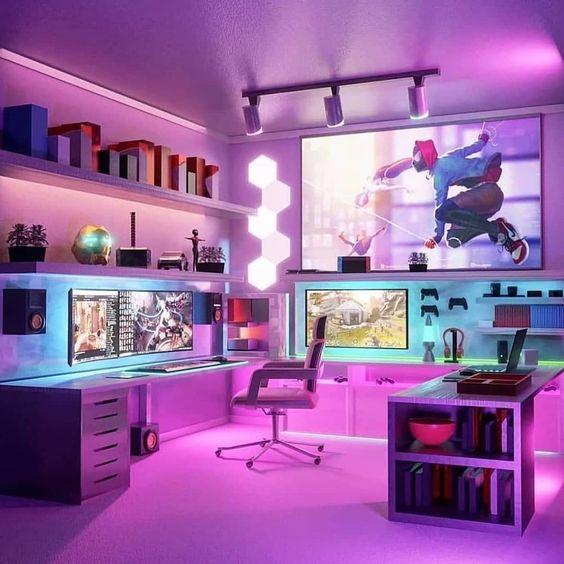 immersive gaming setup