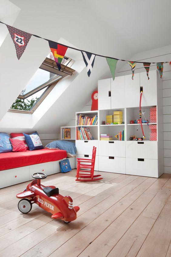 kids loft bedroom storage