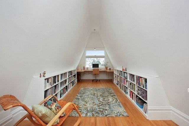 loft storage ideas for home office