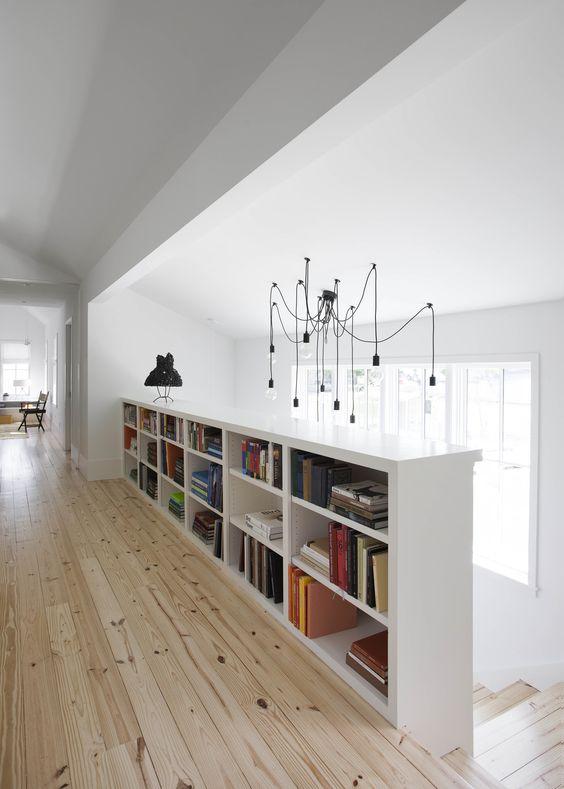 low loft landing bookcase