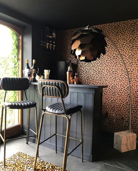 moody and cosy home bar ideas