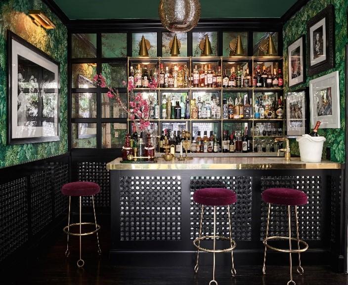 opulent home bar