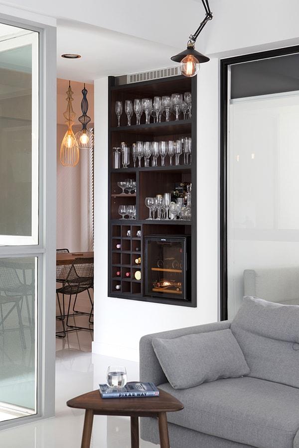 recessed wall niche bar