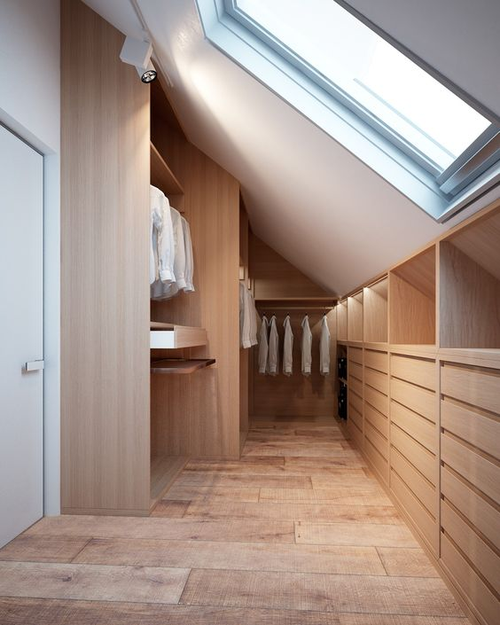 loft storage ideas - rows of drawers