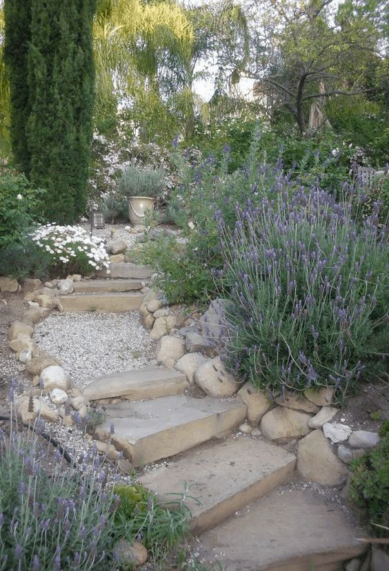 steps with gravel