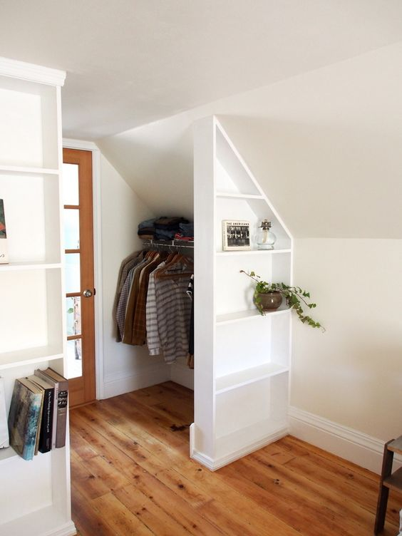 tiny loft wardrobe space