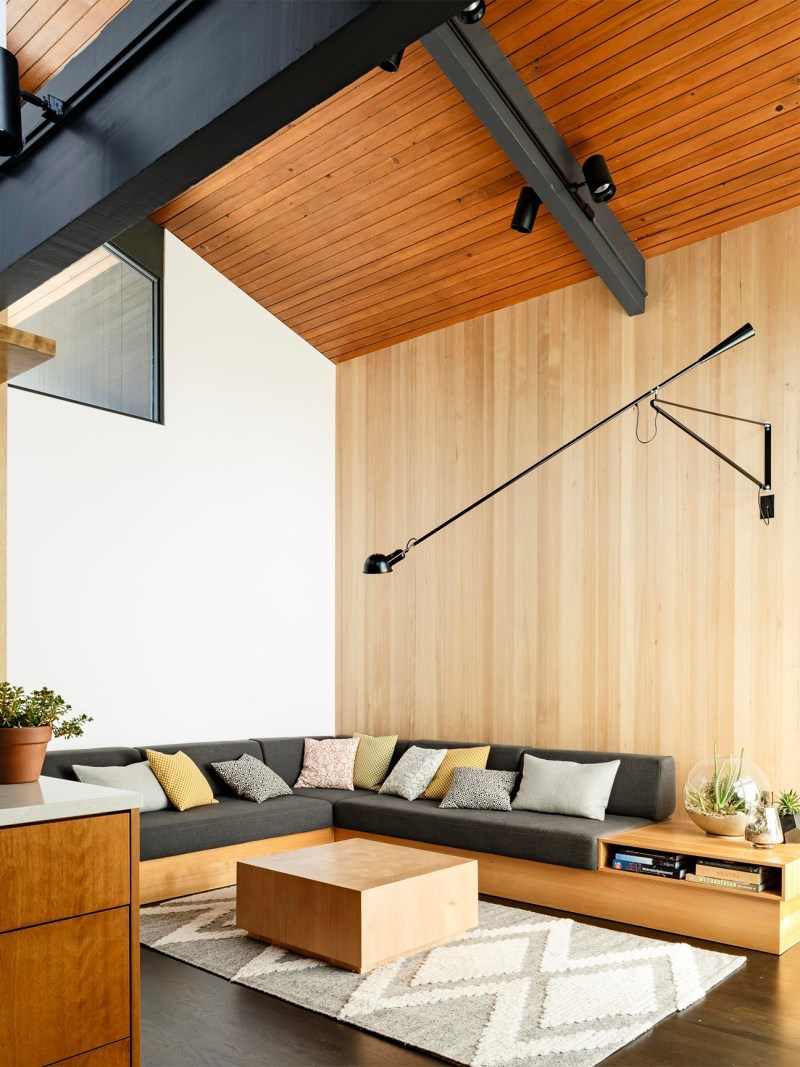 tonal wood panelling for brown living room ideas