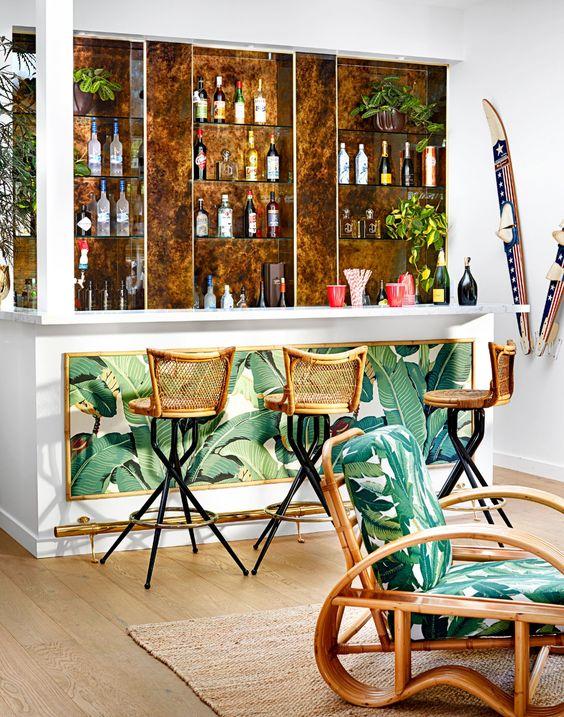 tropical home bar