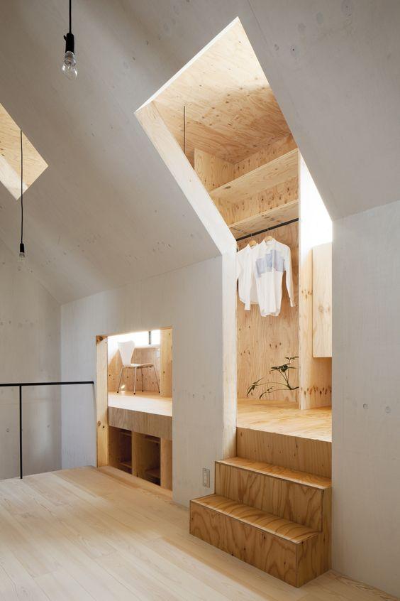 unusual loft wardrobe storage