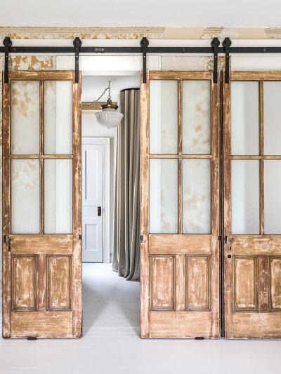 vintage refurbished barn doors