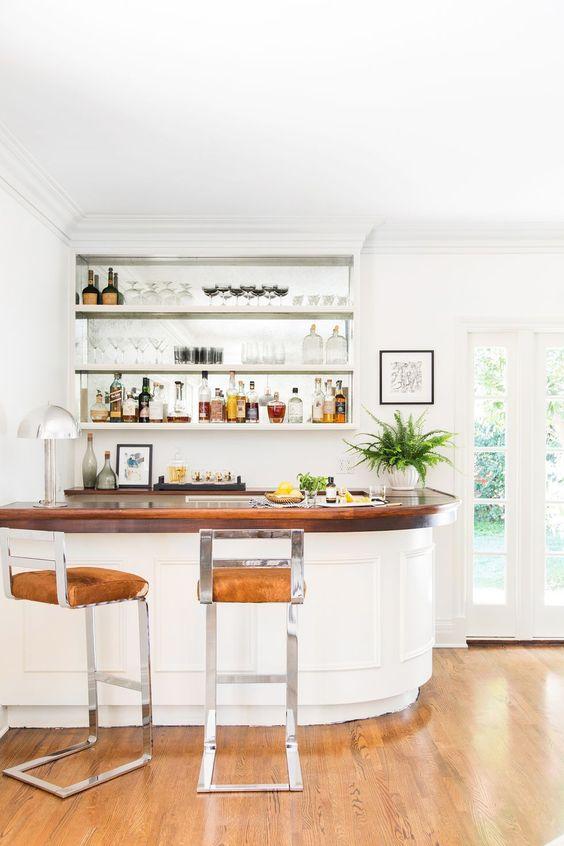 white home bar
