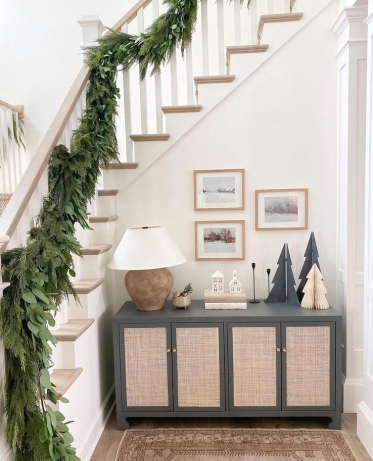 Christmas banister idea
