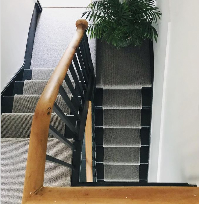 Black and timber banister ideas