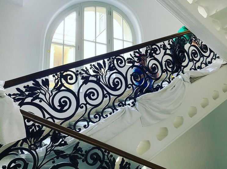 steel banister decorative