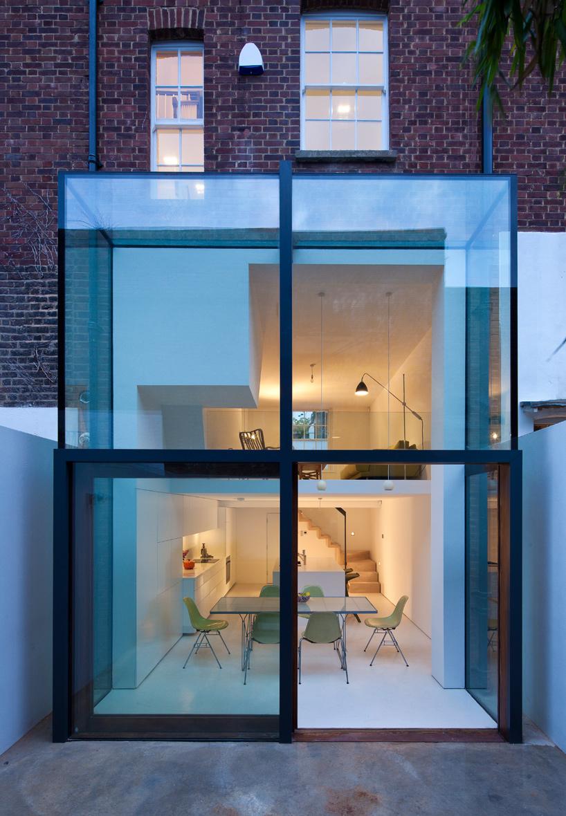 2 storey glass facade
