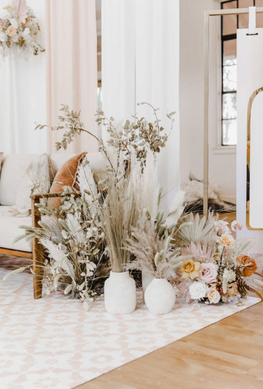 Dried flower wedding ideas