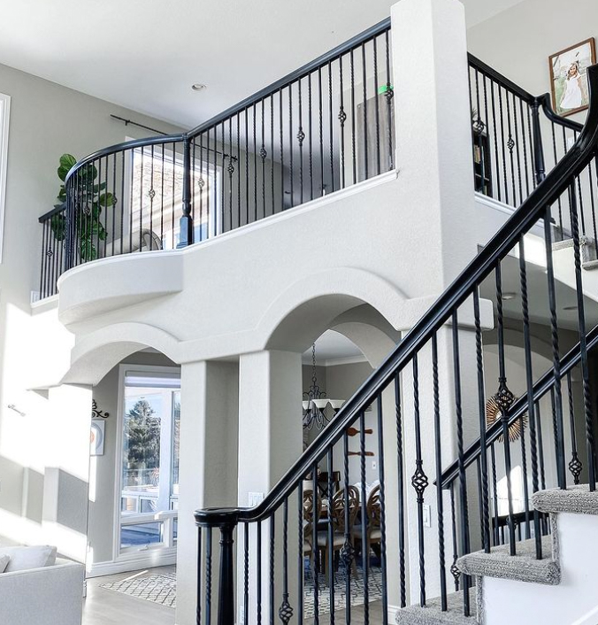 staircase and landing banister ideas
