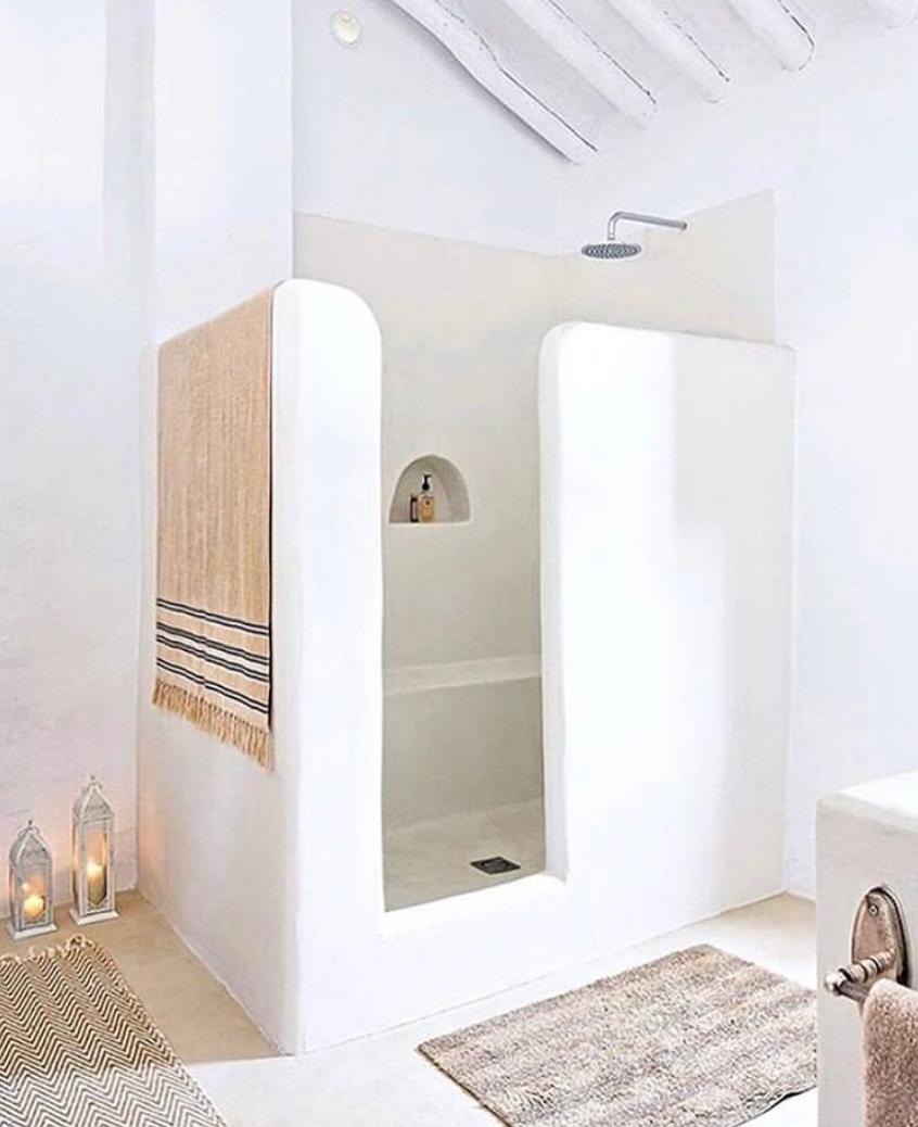 greek islands inspired shower