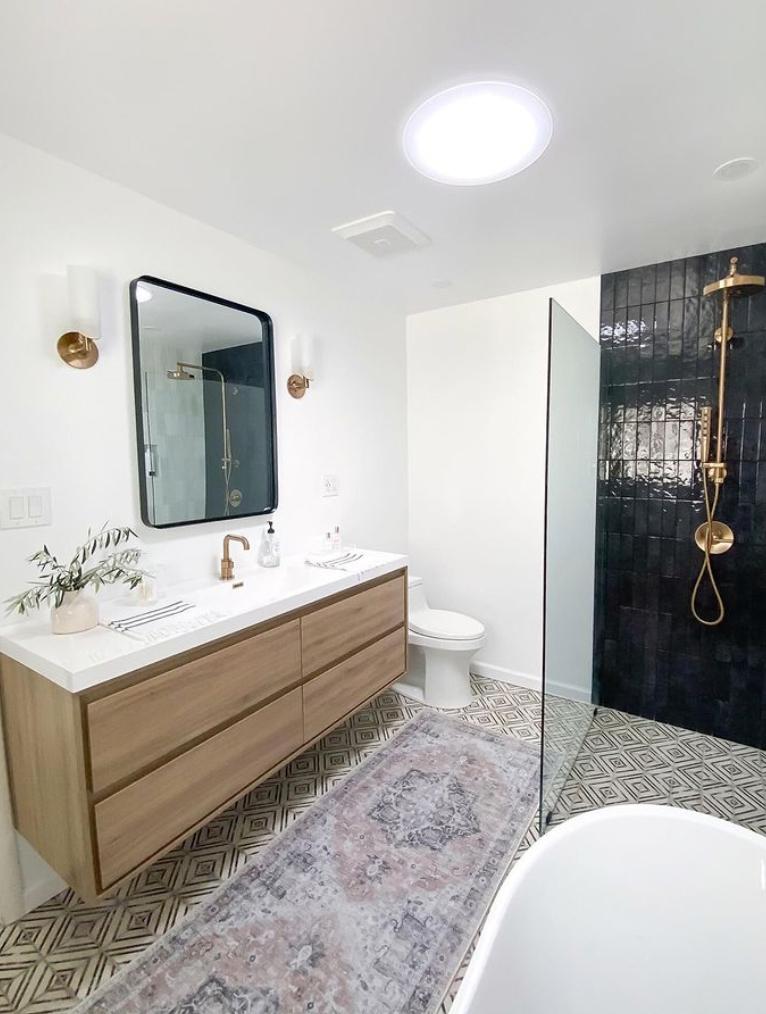 bohemian shower room